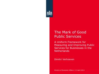 The Mark of Good Public Services