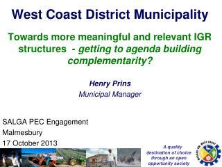 West Coast District Municipality