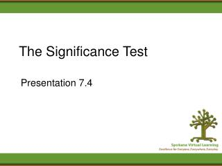 The Significance Test