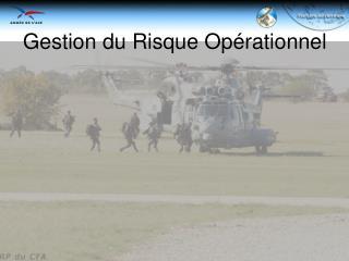 Gestion du Risque Opérationnel