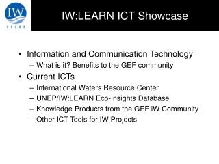 IW:LEARN ICT Showcase