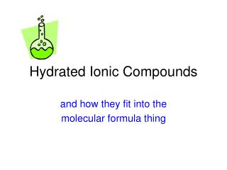 Hydrated Ionic Compounds