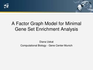 A Factor Graph Model for Minimal Gene Set Enrichment Analysis