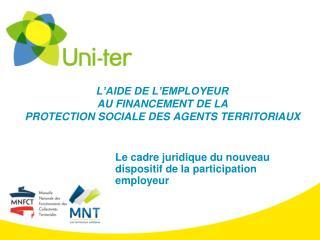 L'AIDE DE L'EMPLOYEUR  AU FINANCEMENT DE LA  PROTECTION SOCIALE DES AGENTS TERRITORIAUX