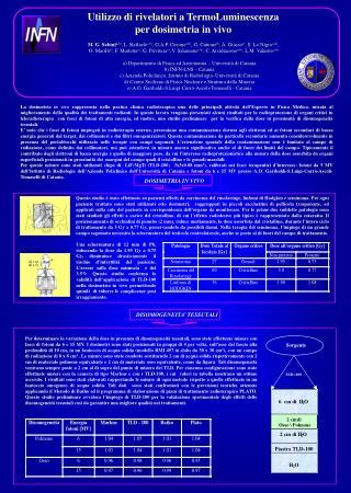 Utilizzo di rivelatori a TermoLuminescenza per dosimetria in vivo