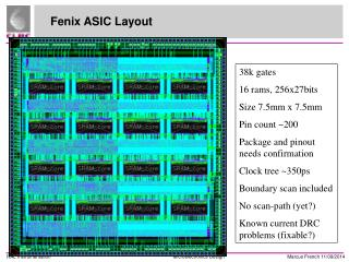Fenix ASIC Layout