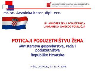 mr. sc. Jasminka Keser, dipl. ecc.