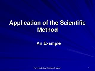 Application of the Scientific Method