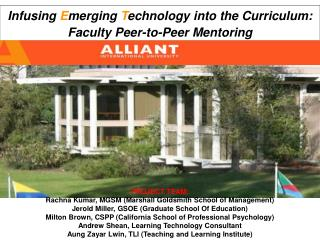 Infusing  E merging  T echnology into the Curriculum: Faculty Peer-to-Peer Mentoring