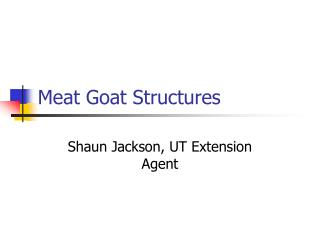 Meat Goat Structures