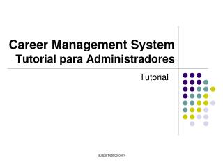 Career Management System Tutorial para Administradores