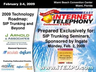 2009 Technology Roadmap: SIP Trunking and Beyond
