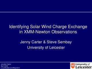 Identifying Solar Wind Charge Exchange in XMM-Newton Observations