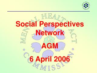 Social Perspectives Network AGM 6 April 2006