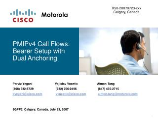 PMIPv4 Call Flows: Bearer Setup with Dual Anchoring