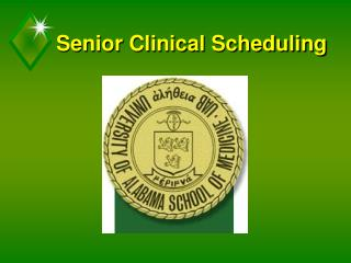 Senior Clinical Scheduling