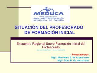 Encuentro Regional Sobre Formación Inicial del Profesorado