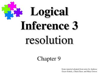 Logical Inference 3 resolution