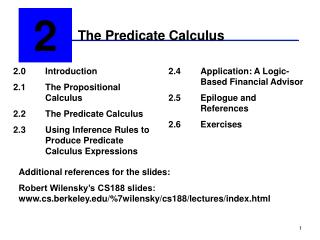 The Predicate Calculus
