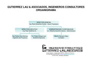 GUTIERREZ LAU  ASOCIADOS, INGENIEROS CONSULTORES ORGANIGRAMA