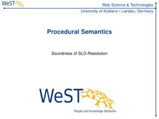 Procedural Semantics