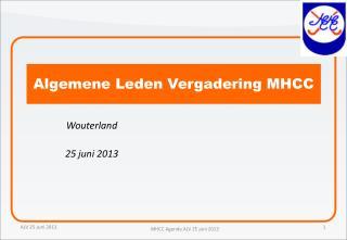 Algemene Leden Vergadering MHCC