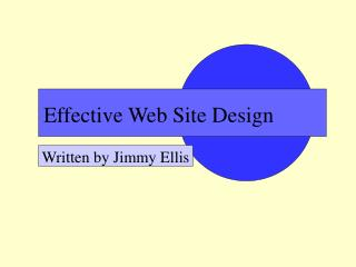 Effective Web Site Design