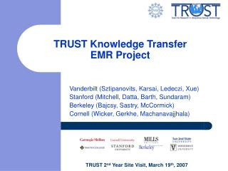 TRUST Knowledge Transfer EMR Project