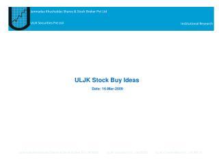 ULJK Stock Buy Ideas