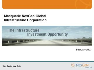 Macquarie NexGen Global  Infrastructure Corporation