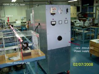 100W CW CO 2  laser