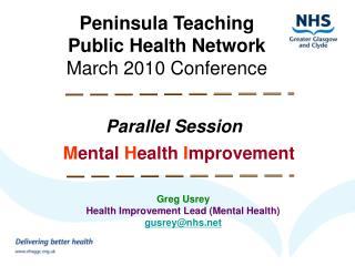 Peninsula Teaching  Public Health Network March 2010 Conference