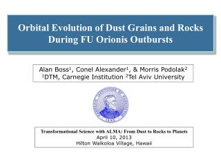 Orbital Evolution of Dust Grains and Rocks During FU  Orionis  Outbursts