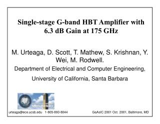 Single-stage G-band HBT Amplifier with 6.3 dB Gain at 175 GHz
