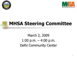 MHSA Steering Committee