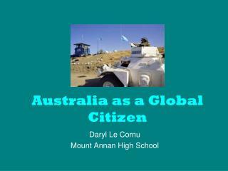 Australia as a Global Citizen