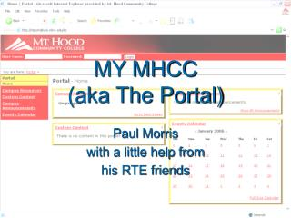 MY MHCC (aka The Portal)