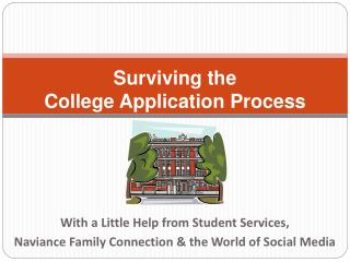 With a Little Help from Student Services,   Naviance Family Connection & the World of Social Media