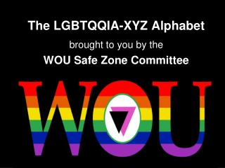 The LGBTQQIA-XYZ Alphabet