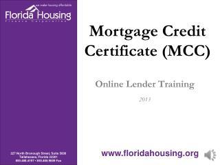 Online Lender Training 2013