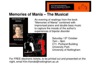 Memories of Mania � The Musical
