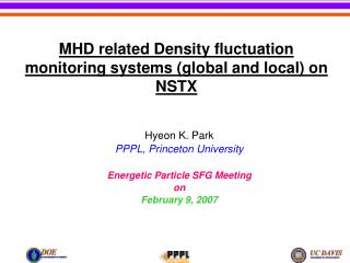 MHD related Density fluctuation monitoring systems (global and local) on NSTX