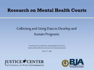 Research on Mental Health Courts