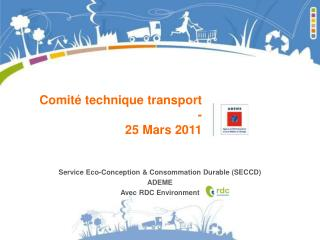 Comité technique transport - 25 Mars 2011
