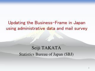 Updating the Business-Frame in Japan using administrative data and mail survey