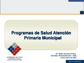 Programas de Salud Atención Primaria Municipal