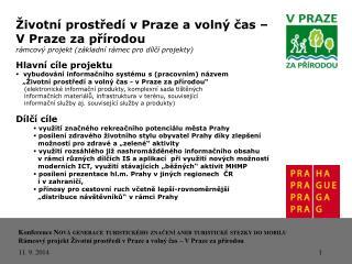 Životní prostředí v Praze a volný čas –  V Praze za přírodou