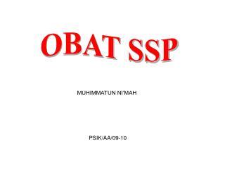 OBAT SSP