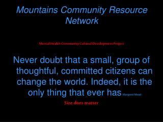 Mountains Community Resource Network