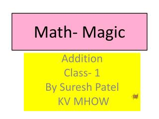 Math- Magic
